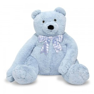 Melissa & Doug Jumbo 2' Teddy Bear - Blue