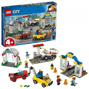 LEGO City Garage Center 60232 Building Kit for Kids 4+ with Toy Vehicle 234pc