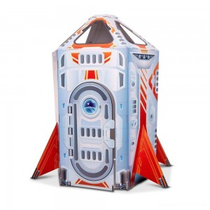 Melissa & Doug Rocket Ship Indoor Corrugate Playhouse